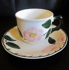 Villeroy & Boch Wildrose: Kaffeetasse / Tasse mit Unterteller