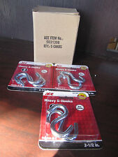 8 Pkgs of 2 Pc Zinc Plated 250 Lb Heavy Duty S-Hooks Ace Hook Steel 2 1/2 Inch