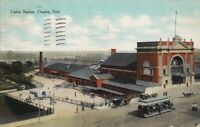 Postcard Railroad Union Station Omaha Nebraska NE 1909