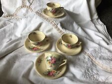 More details for vintage art deco burleigh ware athlone coffee / tea cups and saucers