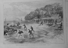 1876 Ui Mord Commodore Goodenough Einwohner Insel Santa-Cruz Ozeanien