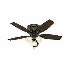 "Hunter  46"" Hatherton New Bronze Ceiling Fan with Light"