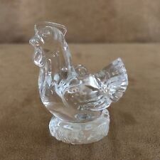 Waterford Crystal Chicken Ornament on nest 3 french hens Christmas 12 days of