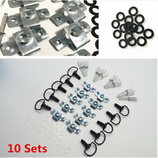 10 Sets Motorcycle 17mm Race Fairing Fasteners Quick Release D-RING 1/4 Turn