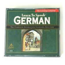 Learn To Speak German Ver 7.0 The Learning Company Language Software PC 3 Discs