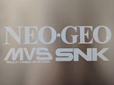 "Arcade style 3 Vinyl Decals NeoGeo Mvs Snk 10.75"" x 3.75"" kit *Read description*"