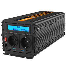 3000W Power Inverter DC 12V to AC 240V Converter 6000W LCD Remote USB EDECOA