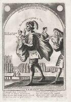 Zuhälter pimp Zuhälterei caricature Karikatur N. Guerard Kupferstich engraving