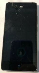 [BROKEN] ZTE ZFive 8GB Black Z862bl (Tracfone) Very Good Used NO POWER Cracked