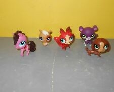 LPS Hasbro Littlest Pet Shop Red Fox Blue Eyes #3298 - 3295 Panther - 3292 Pony