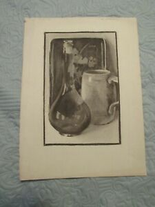 Arthur H Lindberg - Early Still Life - Sold by Granddaughter-11x15 Charcoal
