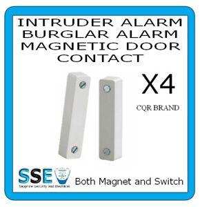 Burglar Alarm Door Contact - CQR SC517 -  Magnetic Reed Switch -  X 4