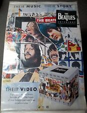 BEATLES VHS Anthology Promotional POSTER 1995 RARE HTF 60's Rock N' Roll POP