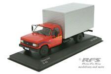 Chevrolet D-40 Box Truck  Baujahr 1985  rot silber - 1:43 Whitebox IXO WB 267