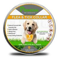 Primova Flea and Tick Collar for Dogs Enhanced with Natural Essential Oils