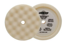 "BUFF AND SHINE WHITE 8"" HEAVY CUT WAFFLE FOAM HOOK IT BUFFING PAD 899WG"