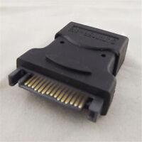 4 Pin Molex PC IDE Female to 15 Pin SATA Male Power Adapter Convertor Connector~