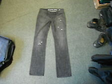 "All Saints Straight Jeans Size 28  Leg 33"" Black Faded Ladies Jeans"