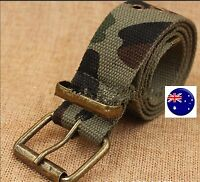 Boys Kid Child Camo Army Military green camouflage Sports Casual Pants Tie Belt