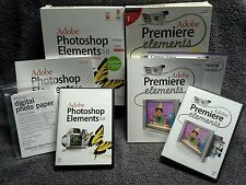 Adobe Photoshop v5.0 AND Elements v1.0 2 Full Consumer Packages Complete Win XP