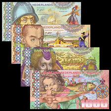 Netherland Ceylon Set 4 PCS, 50 100 500 1000 Gulden, 2016, Fancy Polymer, UNC