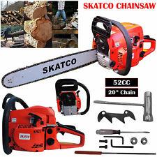 """Heavy Duty 20"""" 52cc Chainsaw Wood Cutting Saw Cutter Two Stroke Petrol Engine"""