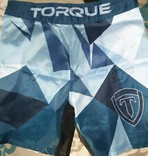 Torque Mma Blue Fortress Fight Shorts Size 36 Nwt