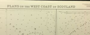 ADMIRALTY SEA CHART. No.1836. TOBERMORY & MALLAIG HARBOURS. SCOTLAND W. CST.1959