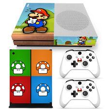 Xbox One S Super Mario Bros Console & 2 Controllers Decal Vinyl Skin Sticker XB1
