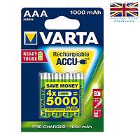 4 x VARTA AAA Ni-MH 1000mAh Ready2Use Rechargeable batteries 5703 1.2V LR03 HR03