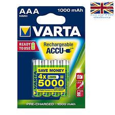 4 X VARTA AAA Ni-mh 1000mAh Ready 2Use Baterías Recargables 5703 1.2V LR03 HR03