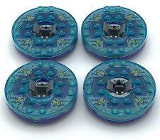 Lego 4 New Ninjago Spinners Transparent Blue with skull Pattern Ninja Battle