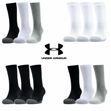 Under Armour Mens Womens Socks Crew HEATGEAR Tech Golf Sports Socks