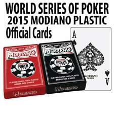 World Series of Poker Playing Cards Plastic Acetate Modiano Cards 2015 Brand NEW