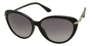 Tom Ford Willa Sunglasses Shinny Black Frame Gradient Lens FT293 01B 59-15 135