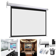 """72"""" 16:9 Electric Motorized HD Projector Projection Screen Cinema Theater Remote"""
