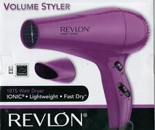 New Revlon Ionic 1875 W Volume Styler Hair Dryer Model #RVDR5017 Pink