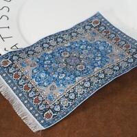 16*9cm Woven Rug Dollhouse Miniature 1:12 Scale Floor Carpet Pro AU ~
