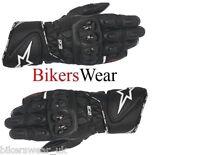 Alpinestars GP Plus R Black Leather Motorbike/Motorcycle Race Gloves