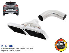 Exhaust tip Tailpipe trim for Hyundai Tucson 1.7 CRDi to give a 2.0 CRDi Look