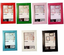 IKEA FISKBO Bilderrahmen / Fotorahmen 10x15 cm /13x18 cm /21x30 cm, 7 Farben NEU