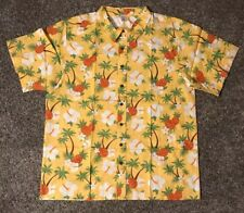 Gymboree Mens Short Sleeve Hawaiian Shirt Size XXL New Yellow, Orange & Green