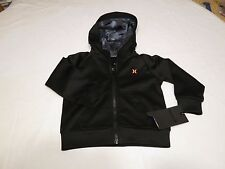 Hurley Little Boys Scuba jacket hoodie 4T toddler NEW surf 781582 023 black 4 T