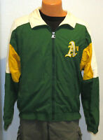 vtg OAKLAND A's Starter Windbreaker MED 80s mlb athletics jacket distress green