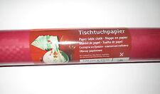 1 Rotolo 1mx10m Carta Tovaglia Panno Tabella Rosso Scuro Compleanno Decorazione