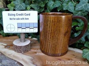 Wooden Tankard Beer Mug Cup Wood Wine Juice Tea Coffee Bushcraft LARP COSPLAY