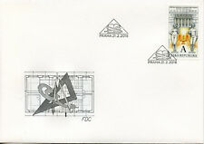 Czech Rep 2018 FDC Libary of Prague Frantisek Roith 1v Cover Architecture Stamps
