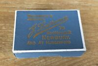 VINTAGE ANTIQUE JEWELLERY BOX WATCHMAKER J LAWRENCE NEWBURY & HUNGERFORD