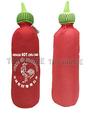"SRIRACHA PLUSH! MINI SOFT STUFFED TOY CHILI BOTTLE ROOSTER HOT SAUCE 6.5"" NWT"