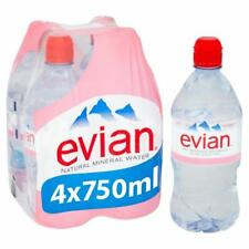 Evian Sports Cap 750ml (Pack of 12)